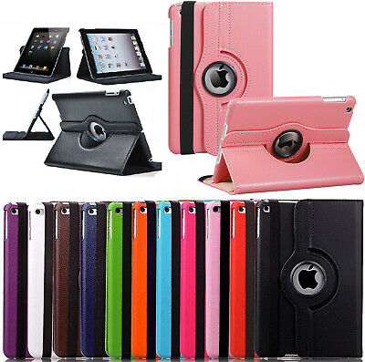 £1.39 • Buy Leather 360 Rotating Smart Case Cover Apple IPad 10.2 Air 10.5  Pro 9.7 Mini 5