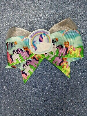 Handmade Vintage 80's My Little Pony Inspired Hair Bow (silver Shimmer)  • 3.50£