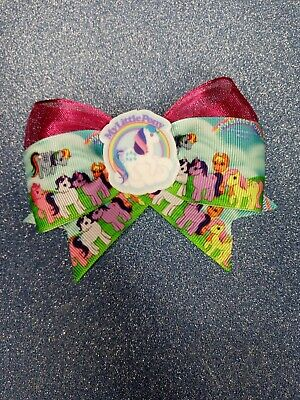 Handmade Vintage 80's My Little Pony Inspired Hair Bow (pink Shimmer)  • 3.50£