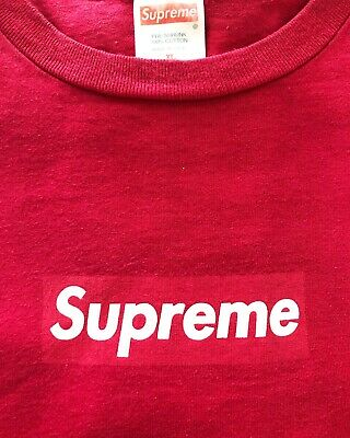 $ CDN631.15 • Buy Supreme Xl 2000 Og Red On Red Box Logo T-shirt Bold Font Rare Vintage Authentic