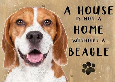 20cm Metal Beagle A House Not A Home Hanging Sign Dog Lover Gift Stocking Filler • 7.85£