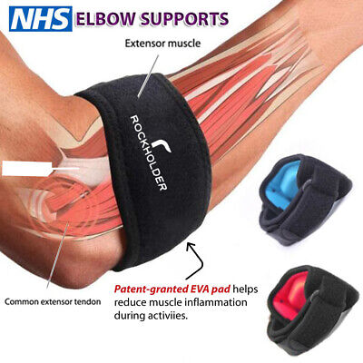 Tennis Elbow Support Brace Strap For Arthritis/Golfers Pain Band With EVA Pad Uk • 2.99£