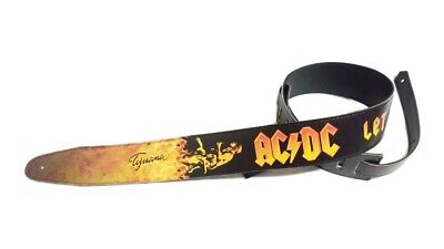 $ CDN28.54 • Buy AC/DC Guitar Or Bass Strap, Adjustable Size, Eco-Friendly Leather, Unisex