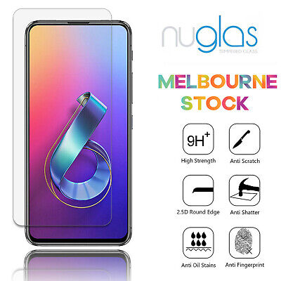 AU6.95 • Buy Genuine Nuglas Tempered Glass Screen Protector For Asus Zenfone 6 ZS630KL 6.4