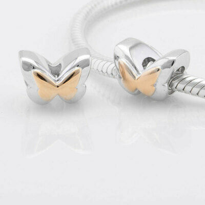 Gold Butterfly Charm - 925 Sterling Silver - Christmas Gift For Wife Mum Nan • 3.95£