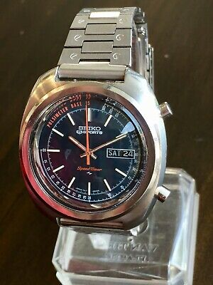$ CDN470.92 • Buy Vintage 1971 SEIKO SPORTS 5 SPEED TIMER 7017-8000 Chronograph W/ Perfect FlyBack