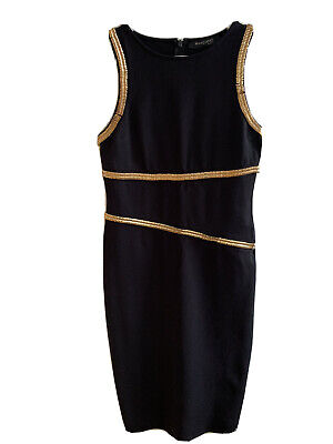 Marciano GUESS Midi Dress, Black With Brass Details  • 15£