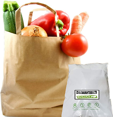 Strong Brown Paper Bags With Handles For Sandwich School Lunch Takeaway Food Eco • 12.53£