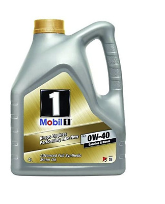 Mobil 1 0W-40 Fully Synthetic Engine Oil 0W40 Mobil1 5 Litres 5L • 42£
