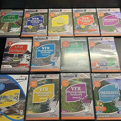 Large Bundle Of VFR SCENERY Generation X Add-On Flight Simulator X FSX • 99.95£