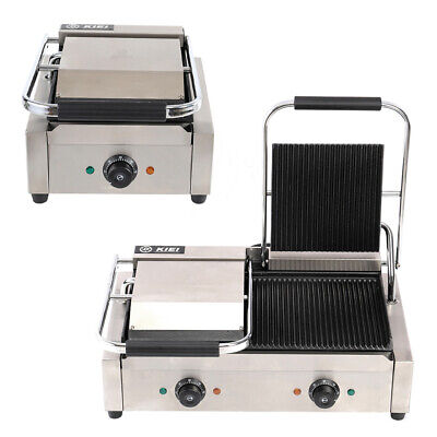 Commercial Panini Press Grill Sandwich Toastie Maker Stainless Steel Machine UK • 125.95£
