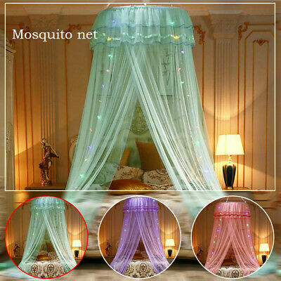 LED Kids Baby Bed Canopy Bedcover Mosquito Net Curtain Bedding Dome Lace Tent UK • 13.59£