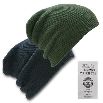£8.90 • Buy Us Army Style Watch Cap 100% Wool Warm Military Bob Hat - One Size Fits All