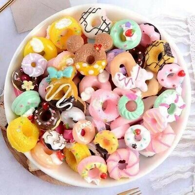 Mix Fake Food Sweets Donuts, Sweet Treats, Cabochon CB 18 Card Toppers • 2.99£