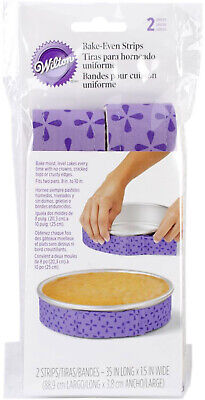 Wilton Bake-Even Strips 2pc For Baking Moist Level Cakes 415-0795 • 3.75£