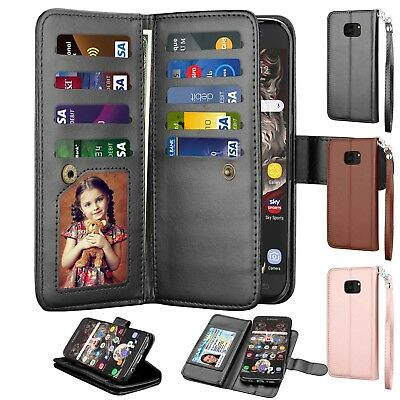 $ CDN10.09 • Buy For Samsung Galaxy S7 /S7 Edge Wallet Leather Phone Case Flip Stand Holder Cover