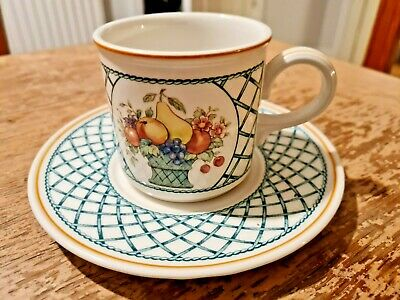 Villeroy & Boch Basket Large Tea Coffee Cup & Saucer Vgc • 13.99£