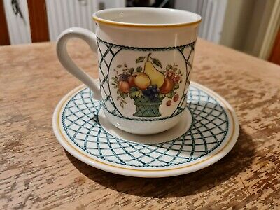 Villeroy & Boch Basket Tea Coffee Cup & Saucer Vgc • 13.99£