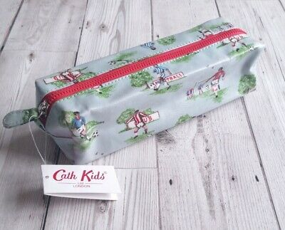 Cath Kidston 'Footy' Pencil Case, Wipeclean, Oilcloth, Football Design, BNWT • 9.99£