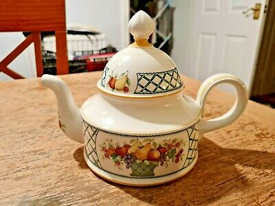 Villeroy & Boch Basket Large Tea Pot 1 1/2 Pint Vgc • 49.99£