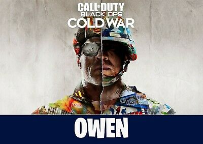 £7.99 • Buy Call Of Duty Cold War Print Personalised Gamertag Wall Art Poster