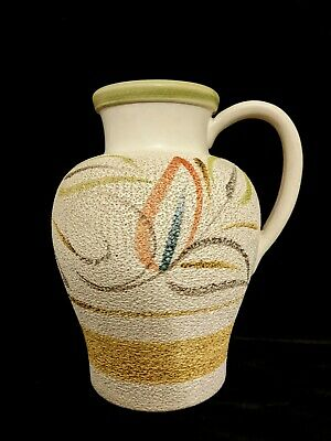 Langley Mill Pottery Autumn Leaf Jug Vase Decoration Glyn Colledge 60s Fat Lava • 10£
