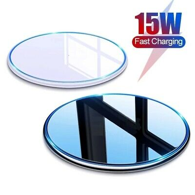 AU14.95 • Buy 15W Qi Wireless Charging Charger Pad For IPhone 13 12 11 Pro XR Max Samsung S10+