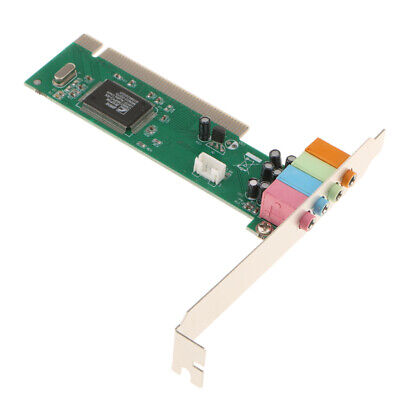 1Pcs Motherboard 5.1Channel PCI Surround Sound Card Adapter For Desktop • 5.56£