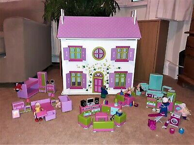 £38 • Buy ELC Rosebud Doll's House Plus Extras BIG BUNDLE Collect Only From Leeds