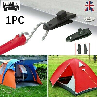 1Pcs Awning Clamp Tarp Clips Snap Hangers Tent Camping Survival Tighten Tool UK • 0.99£