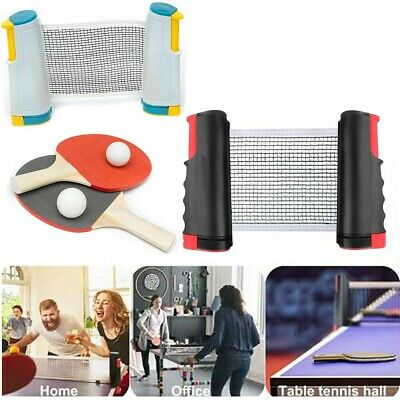 Retractable Table Tennis Net Portable Ping Pong Set - 1 Net + 3 Balls + 2 Bats • 9.79£