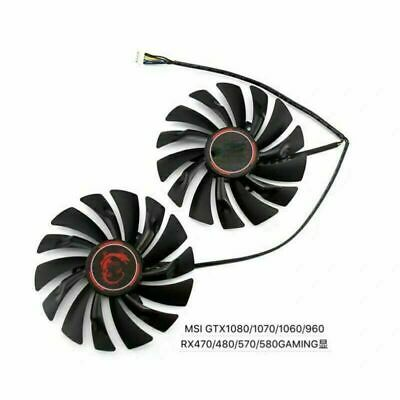 £20.98 • Buy 2Pcs Cooling Fan For MSI GTX1080 1070 1060 960 RX470 480 570 580 GAMING Card