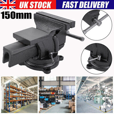 6'' 150mm Heavy Duty Work Table Vice Bench Jaw Swivel Base Clamp Workshop Vise • 25.29£