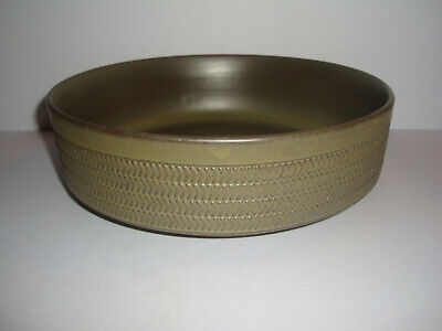 Denby - Chevron - Large Open Salad Or Serving Bowl - All Green • 9.95£