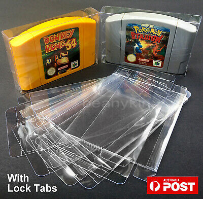 AU5.30 • Buy N64 Thick GAME CARTRIDGE PROTECTORS Cases Nintendo 64 Cover Protector Case Box