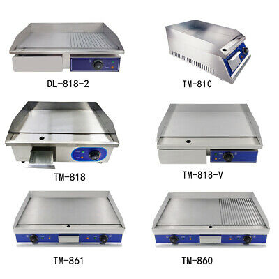 £205 • Buy Commercial Electric Griddle Kitchen BBQ Grill Flat / Grooved Hotplate Countertop