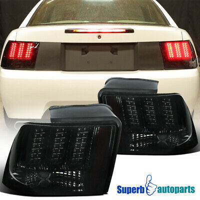$165.98 • Buy For 1999-2004 Ford Mustang LED Sequential Tail Lights Signal Brake Lamps Smoke