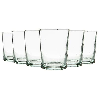 £13.49 • Buy 6 Piece Meknes Recycled Tumbler Glasses Set Drinking Glass 215ml Clear