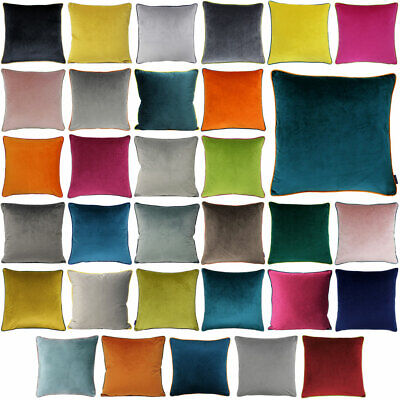 £8.49 • Buy Riva Paoletti Meridian Faux Velvet Piped Cushion Cover