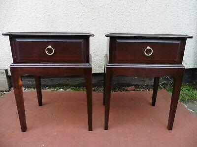 Stag Minstrel Mahogany Bedside Tables, Cabinets, Chests,( Pair) Clean & Tidy. • 145£
