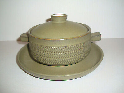 Denby - Chevron - Lidded Soup Bowl And Saucer (several Available) • 6.95£