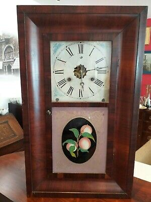 New England OG OGEE American ANTIQUE Jerome New Haven 30 HOUR , WALL SHELF CLOCK • 95£