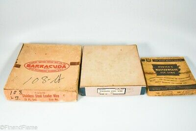 $ CDN1.29 • Buy Vintage Antique Fishing LIne & WIre Leader Lot In Boxes LC65