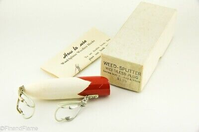 $ CDN17.63 • Buy Vintage Weedless Splitter Antique Fishing Lure In Correct Box Papers LC41