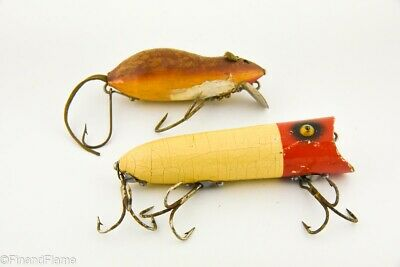 $ CDN15.01 • Buy Vintage Heddon Lucky 13 & Meadow Mouse Antique Fishing Lure Lot LC2