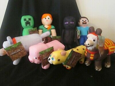 AU83.45 • Buy MINECRAFT Complete Set Of 8 Plush / Soft Toys BRAND NEW WITH TAGS! Licensed