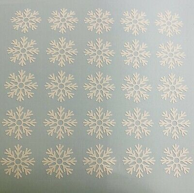 £2.99 • Buy Snowflake Decals Stickers  White X 25 Size 2.5 Cm Each