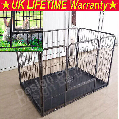 Heavy Duty Puppy Play Pen Dog Crate Whelping Box Rabbit Enclosure Dog Run Cage • 37.90£