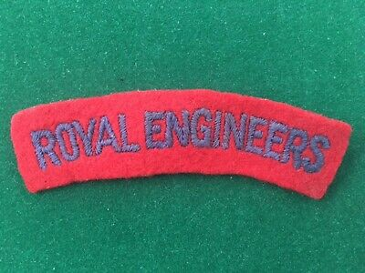 Badge Insignia Patch Ww2 British Shoulder Title - Royal Engineers • 5£