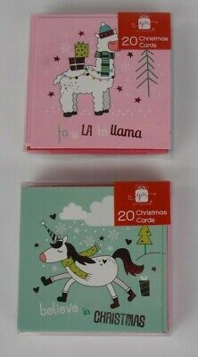 £1.99 • Buy 20 Kids Christmas Cards -  Llama & Horse
